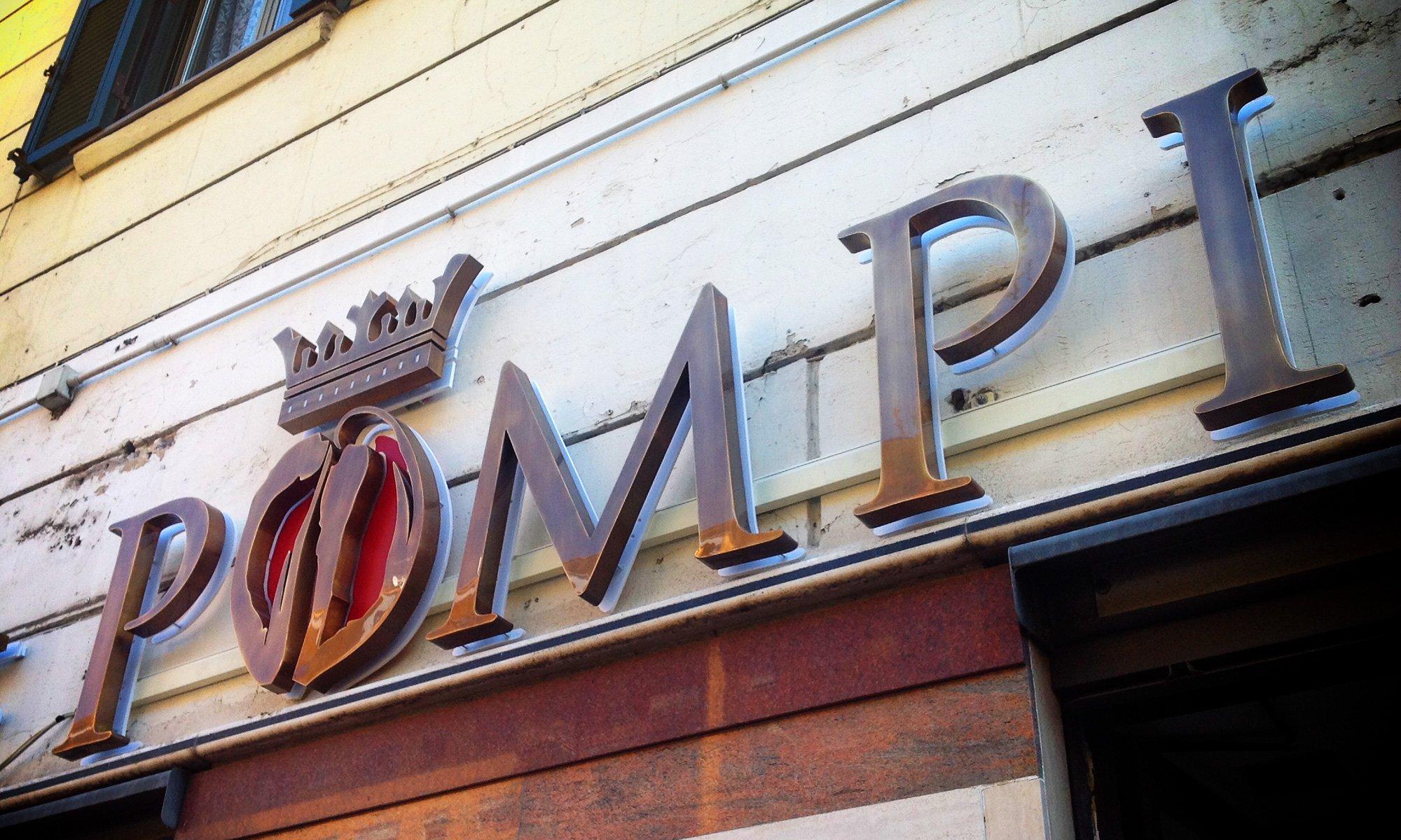 Insegna luminosa LED a lettere singole - POMPI ROMA