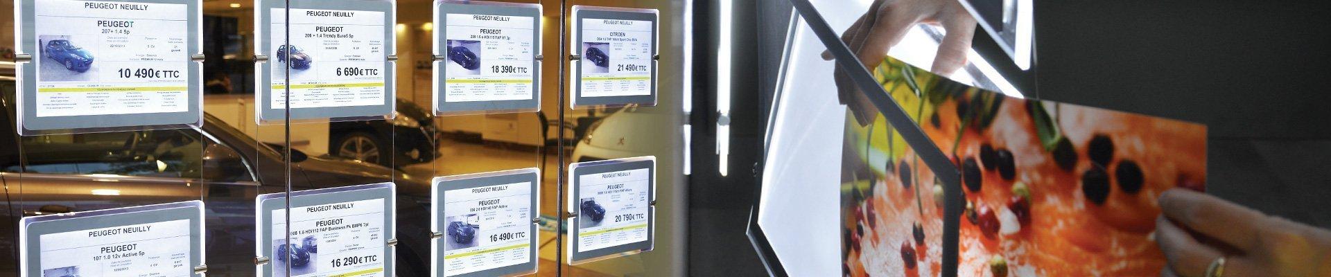 Espositori luminosi LED per vetrine - Luminor Insegne LED Roma